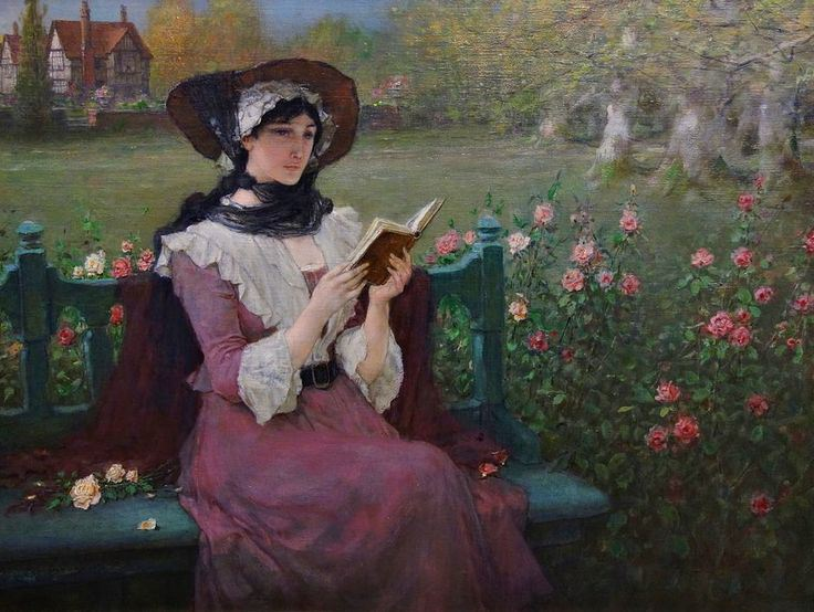 Woman Reading (c.1900). George Henry Boughton (American, 1833-1905). Oil on canvas. Albany Institute of History and Art.