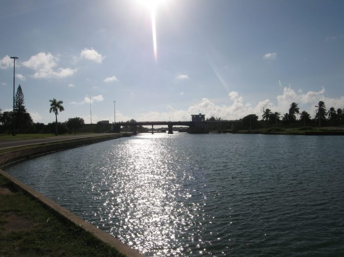 The canal at the entrance to Varardero, Cuba