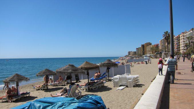 Beach at Torremolinos Spain