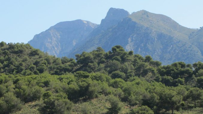 Mountains on the way to Granada Spain