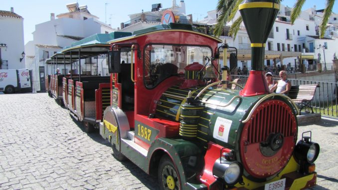 Tourist train near Malaga Spain