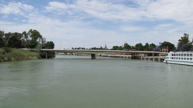 River in Seville Spain