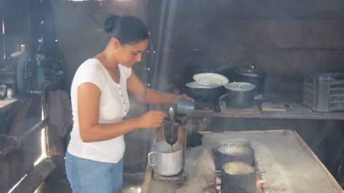 Local coffee being brewed - Near Maria del Portillo