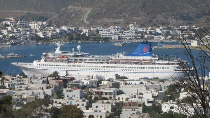 Cruise Ship in Patmos