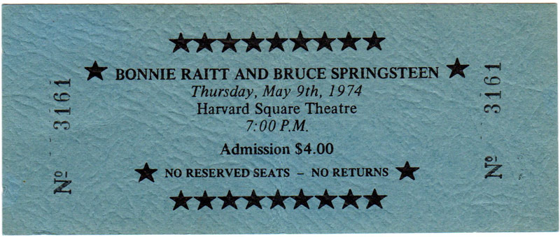 Bonnie Raitt and Bruce Springsteen - Harvard Square Theatre 1974