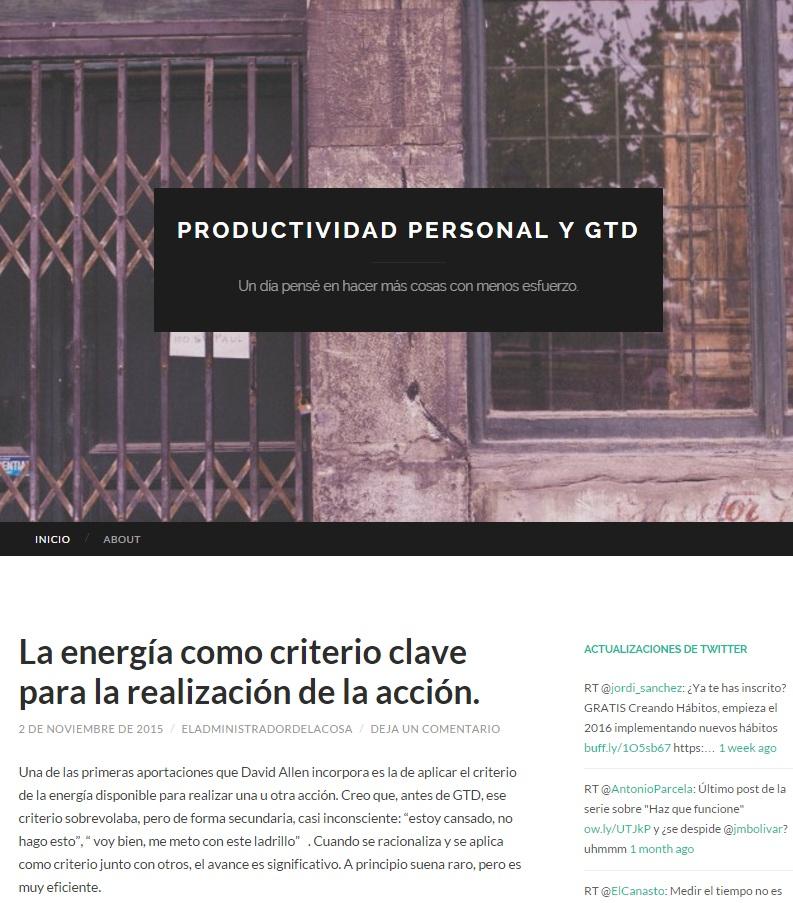 Productividad personal y GTD Alejandro Vazquez