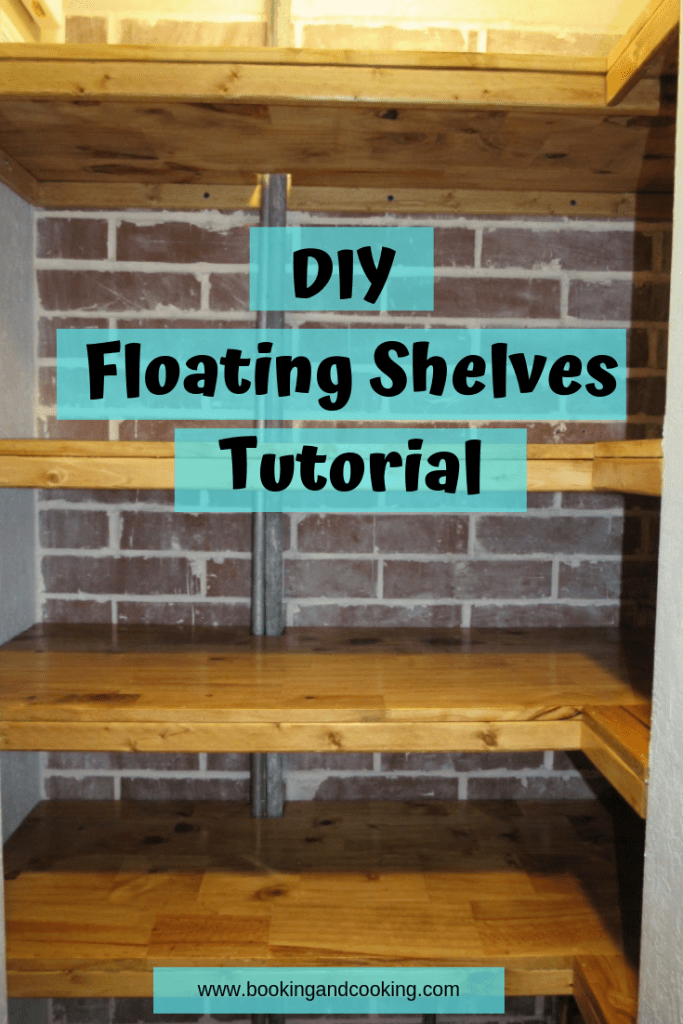Floating Shelves - booking and cooking
