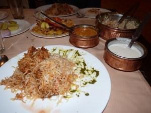 Christmas dinner in Hyderabad