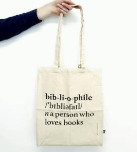 Blossom Books bag 'bibliophile'