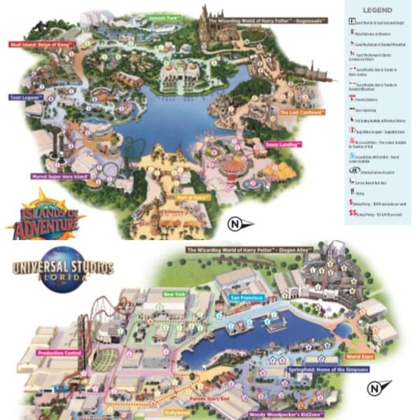 Maps Universal Orlando