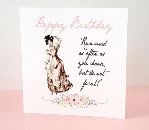 Birthday card Jane Austen