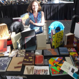 Abby Schoolman, representing the work of fine bookbinders