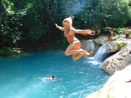 Blue Hole, Secret Falls & Dunn's River Falls | Book Jamaica Excursions | bookjamaicaexcursions.com | Karandas Tours