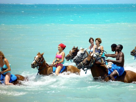 Beach Horseback Ride & River Tubing Adventure | Book Jamaica Excursions | bookjamaicaexcursions.com | Karandas Tours