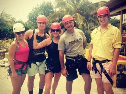 Palmer Family Ziplininning | Book Jamaica Excursions | bookjamaicaexcursions.com | Karandas Tours