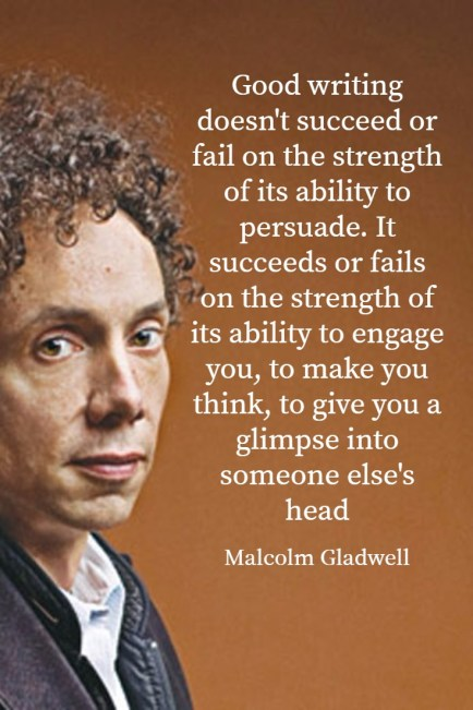 Malcolm Gladwell on writing