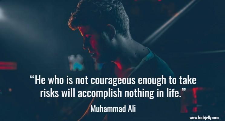 Muhammad Ali quote on taking risks