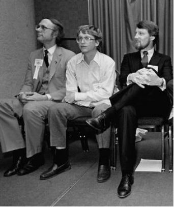 Gary Kildall and Bill Gates at an event