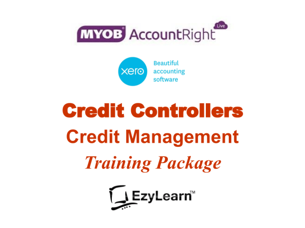 Credit Controller Credit Management Training Course Package for MYOB AccountRight and Xero Accounting