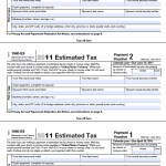2012 IRS Due Dates — Estimated Tax Payments (Form 1040-ES)