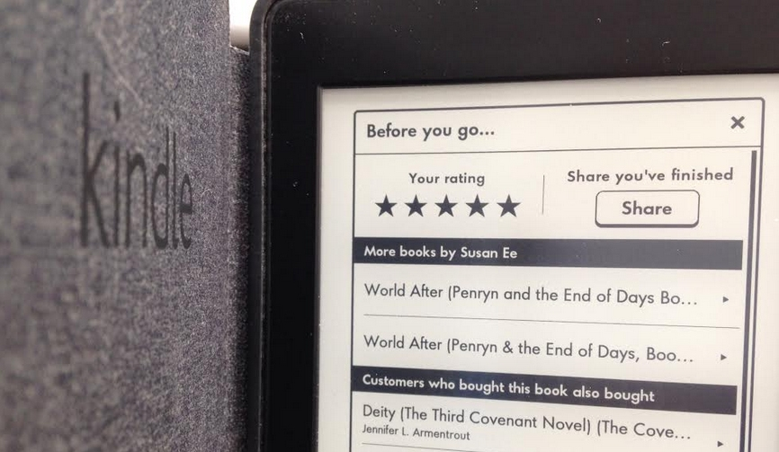 Rating on kindle