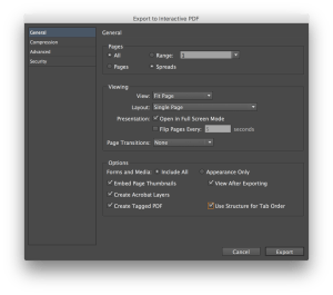 InDesign offers lots of options for creating interactive PDFs.