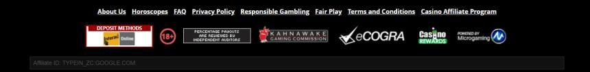 Интерфейс Zodiac Casino
