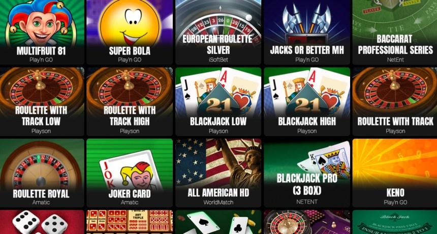 Настольный игры в казино GoldenBet