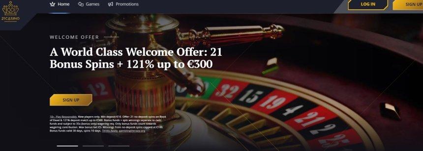 Интерфейс казино 21 Casino