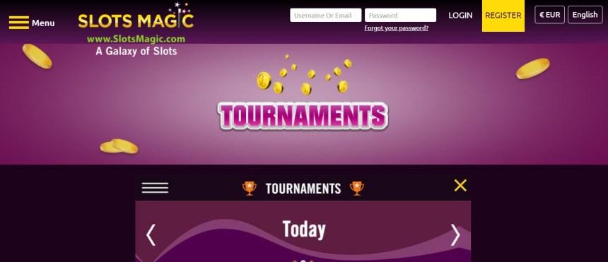Турниры в казино Slots Magic