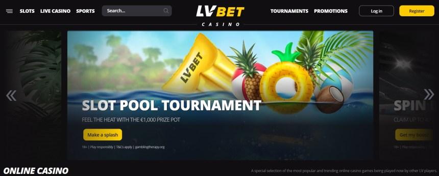 Интерфейс казино LV Bet