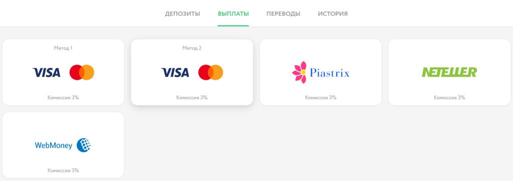 Платежные системы в Покердом