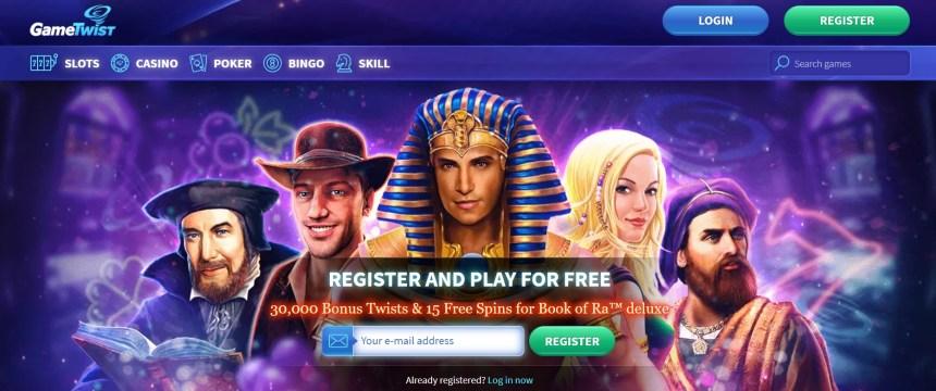 Интерфейс казино GameTwist