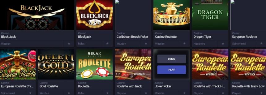 Настольные игры в казино Nashbet