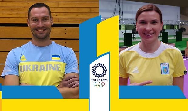 Олена Костевич і Богдан Нікішин - наші прапороносці на відкритті