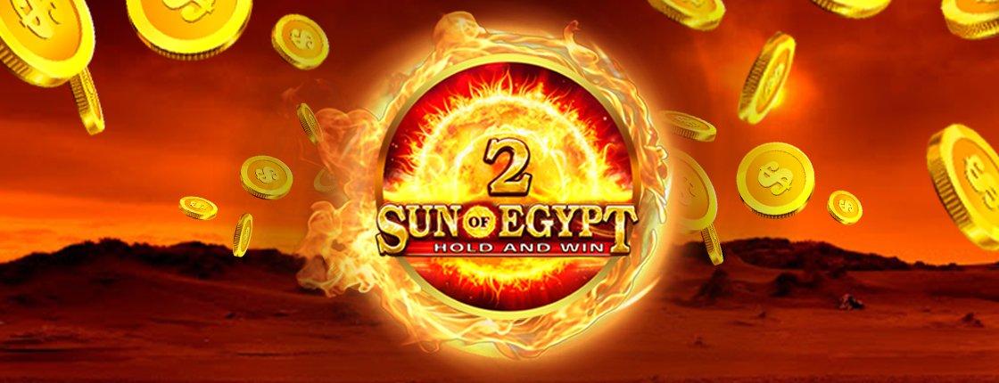 50 фри спинов на игру Sun of Egypt 2