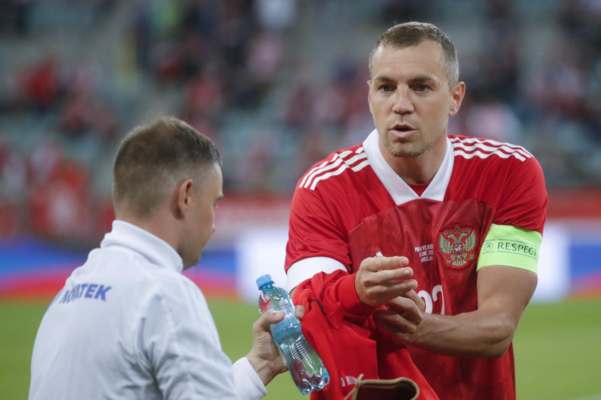 Капитан сборной России Артем Дзюба