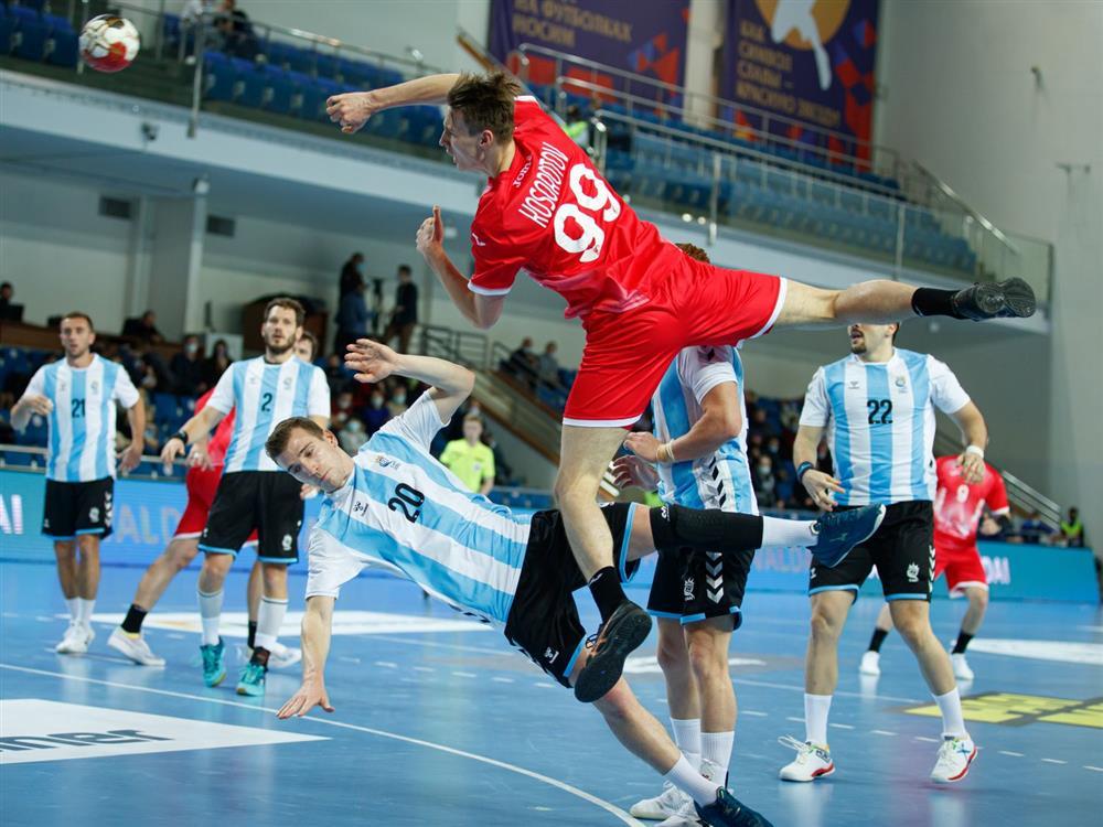 Сборная России в матче с Аргентиной