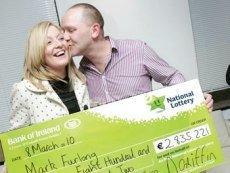 Обладатель приза Национальной Лотереи Ирландии с выигрышем