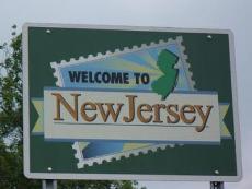 Знак «Добро пожаловать в Нью-Джерси»