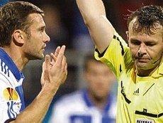 Арбитр Бьорн Куйперс, показавший Андрею Шевченко «красную» год назад, будет судить матч Украины и Франции 15 июня на Евро-2012