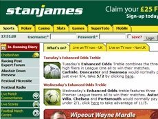 Скриншот сайта Stan James