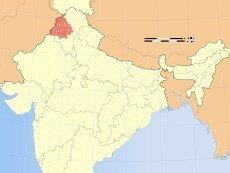 Пенджаб на карте Индии