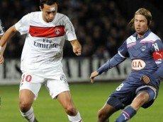 Эпизод матча между ПСЖ и 'Бордо'