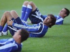 Футболисты 'Шальке 04' во время тренировки