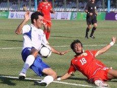 Эпизод матча с участием сборной Азербайджана