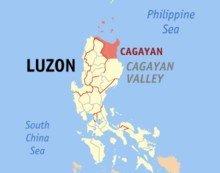 Провинция Кагаян на карте Филиппин