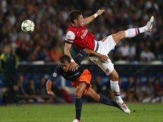 Эпизод матча между 'Монпелье' и 'Арсеналом'