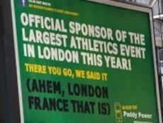 Спорный рекламный щит Paddy Power
