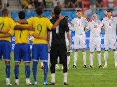 Матчи Англии и Бразилии всегда получаются напряженными